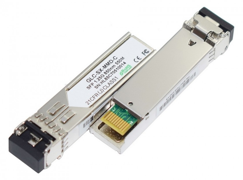 טרנסיבר SFP (מיניג'ביק) ל-1000Base-SX 1.25G MM 550M, תואם CISCO