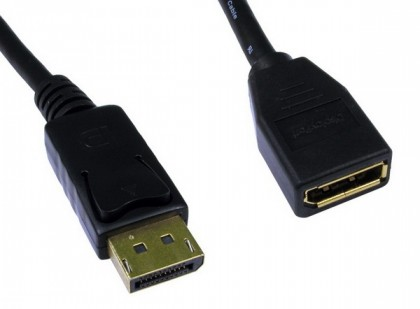 "כבל מאריך DISPLAYPORT זכר-נקבה באורך 20 ס""מ (PORT SAVER)"